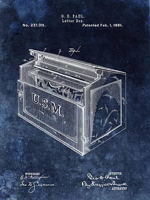 Letter Box Patent Art Print by Dan Sproul