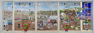 Letter Carriers Picture Window Of Brooklyn Art Print