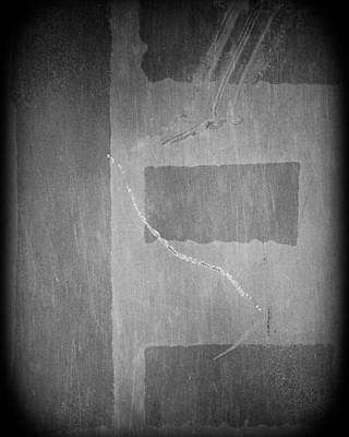 Photograph - Letter E Charcoal On Steel by Julie Niemela