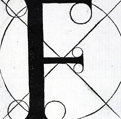 Letter F Art Print by Leonardo Da Vinci