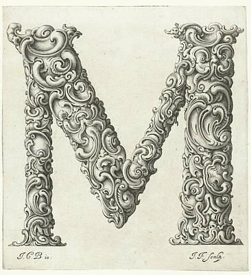 K. S. C Painting - Letter M by Jeremias Falck