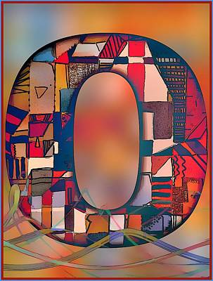 Digital Art - Letter O by Mindy Newman