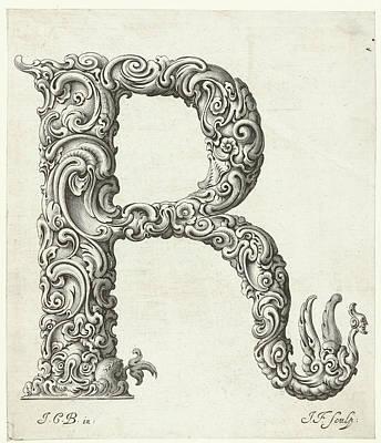 K. S. C Painting - Letter R by Jeremias Falck