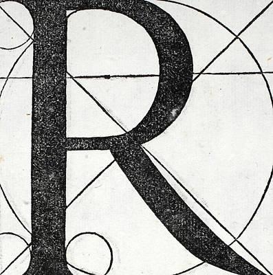 Letter R Art Print by Leonardo Da Vinci