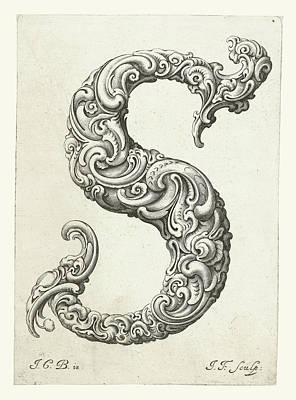 K. S. C Painting - Letter S by Jeremias Falck