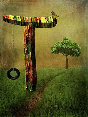 Letter T Art Print by Mihaela Pater