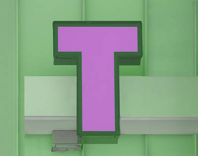 Photograph - Letter T - Pink And Green by Nikolyn McDonald