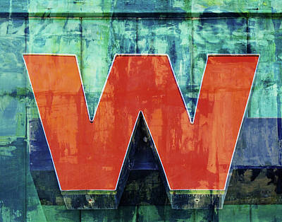 Photograph - Letter W - Textured by Nikolyn McDonald