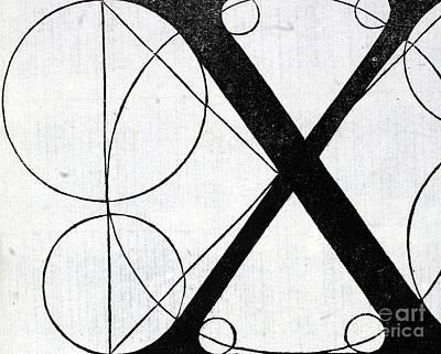 Letter X Art Print by Leonardo Da Vinci