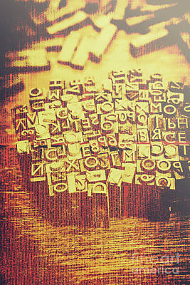 Messy Photograph - Letterpress Industrial Pop Art by Jorgo Photography - Wall Art Gallery