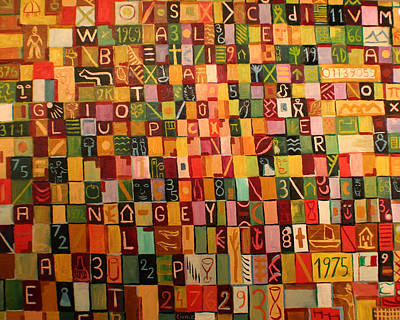 Letters And Numbers Art Print by Biagio Civale