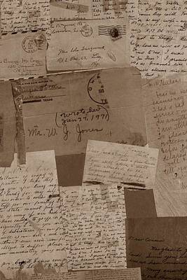 Photograph - Letters From Grandma by Dora Hathazi Mendes
