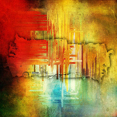 Painting - Letters Home Abstract by Christina VanGinkel