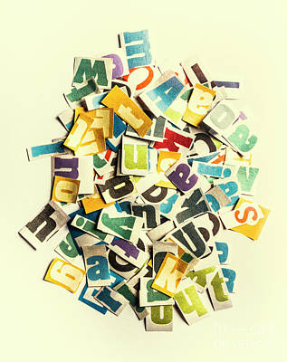 Knowledge Photograph - Letters In Jumble by Jorgo Photography - Wall Art Gallery