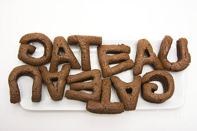 Food And Drink Photograph - Letters Of A French Cake by Bernard Jaubert
