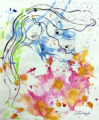 Mixed Media - Letting Go by Julie Hoyle