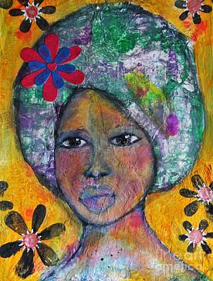 Folkart Mixed Media - Letting Go Of The Perfect by Amanda Trought