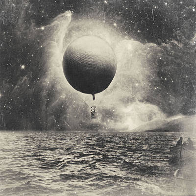 Murphy Mixed Media - Letting Go. Surreal Vintage Collage by Dylan Murphy