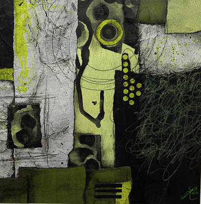 Lime Green Mixed Media - Letting It All Go by Laura Lein-Svencner