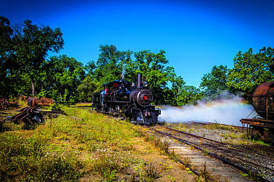 Old West Photograph - Letting Off Steam by Garry Gay