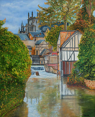 Painting - L'eure A Louviers -  France by Jean-Pierre Ducondi