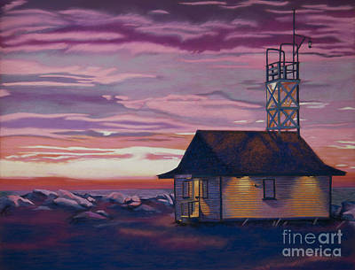 Leuty Life Guard House Art Print by Tracy L Teeter