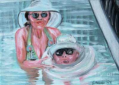 Painting - Lev And Zoya. Portrait by Oksana Semenchenko