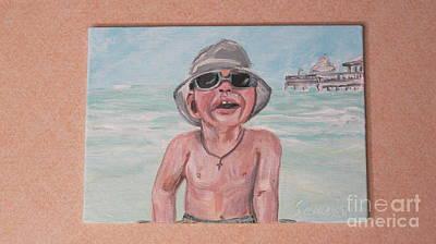 Painting - Lev. Portrait by Oksana Semenchenko
