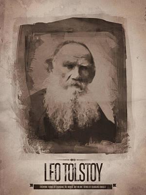 Digital Art - Leo Tolstoy by Afterdarkness