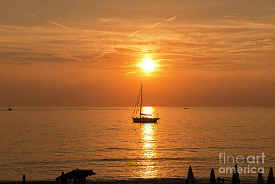 Photograph - Levanto Italian Sunset by Loriannah Hespe
