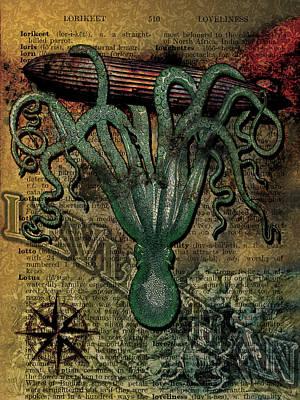 Victorian Death Digital Art - Leviathan by Doc Hafferty