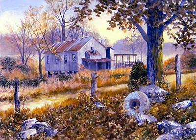 Painting - Levy Deas Grist Mill  Sold by Jack Bolin