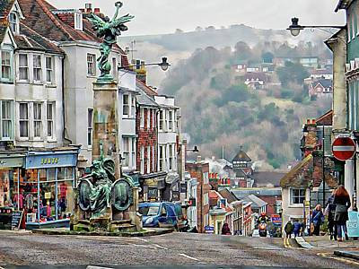 Photograph - View From The War Memorial Down To Harveys Brewery Lewes by Dorothy Berry-Lound