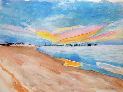 Painting - Lewes Beach, Delaware by Cindy Glazier