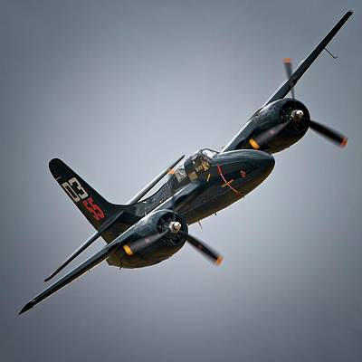 Planes Of Fame Photograph - Lewis Aeronautical Llc's Grumman F7f Tigercat 2011 Chino Air Show by Gus McCrea