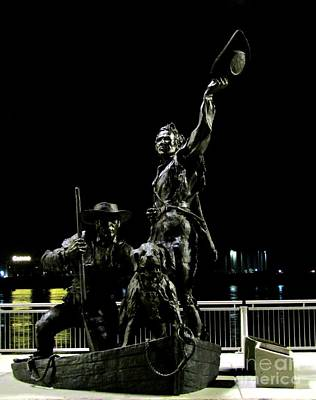 Photograph - Lewis And Clark Arrive At Laclede's Landing by Kelly Awad