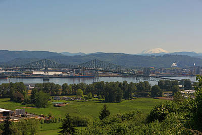Wall Art - Photograph - Lewis And Clark Bridge Over Columbia River by David Gn