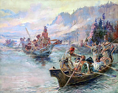 Painting - Lewis And Clark On The Lower Columbia by Mountain Dreams