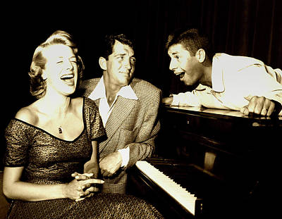 Photograph - Lewis And Martin And  Rosemary Clooney 1950s by N B C