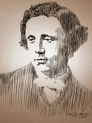 Robbi Musser Drawing - Lewis Carroll by Robbi  Musser