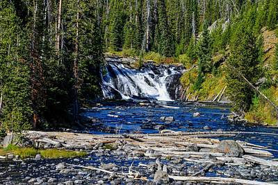 Photograph - Lewis Falls, Yellowstone National Park by Marilyn Burton