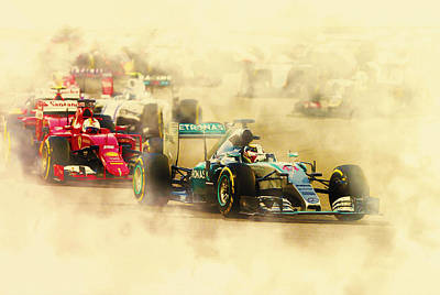 Lewis Hamilton Leads Again Art Print