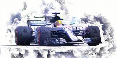 Digital Art - Lewis Hamilton by Roger Lighterness