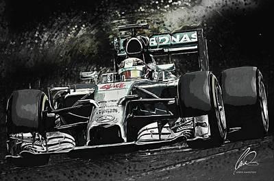 Lewis Hamilton Print by Taylan Apukovska