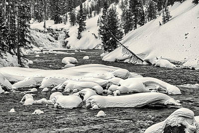 Photograph - Lewis River And Falls - Yellowstone by Stuart Litoff