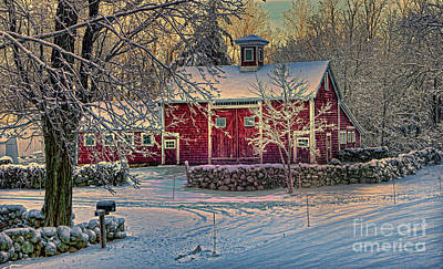 Lewiston Avenue Barn Print by Jim Beckwith