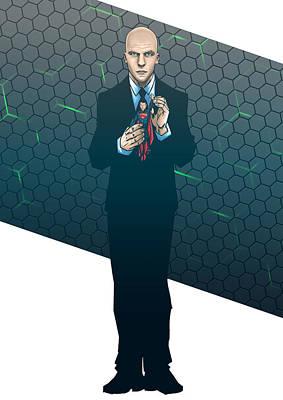 Lex Dawn Of Justice Art Print by Akyanyme