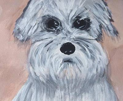 Mini Schnauzer Painting - Lexi by Ginger Alexander