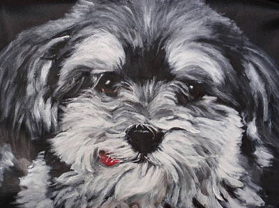 Dog Close-up Painting - Lexie by Carol Russell