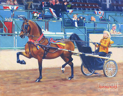Whispering Tracks Painting - Lexie Ellsworth And Whispering War Chant by Candace Lovely